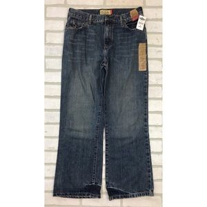 NWT Old Navy Distressed Boot Cut Jeans 14 Husky